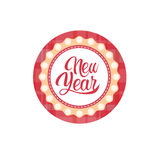 Happy New Year Merry Christmas Greeting Card Decoration Laber Web Icon Royalty Free Stock Photos