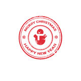 Happy New Year Merry Christmas Greeting Card Decoration Laber Web Icon Royalty Free Stock Photography