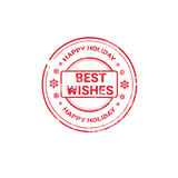Happy New Year Merry Christmas Greeting Card Decoration Laber Web Icon Stock Image