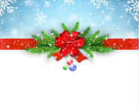 Happy New Year and Merry Christmas Greeting Card Stock Images