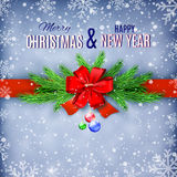 Happy New Year and Merry Christmas Greeting Card Royalty Free Stock Image