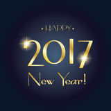 Happy New Year 2017. Merry Christmas and Happy New Year 2017 greeting card. Winter Holiday card. Glow, Light effect decorative elements. Vector Illustration Royalty Free Stock Photo