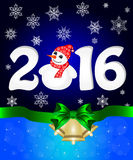 Happy New Year and Merry  Christmas Stock Images