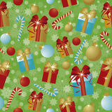 Happy New Year and Merry Christmas greeting seamless wallpaper. Vector illustration Royalty Free Stock Photo