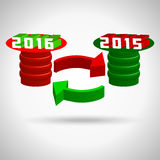 2016, happy new year, merry christmas holiday Stock Photography