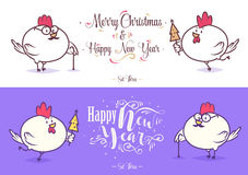 Happy New Year and merry christmas. Holiday Vector Illustration. Stock Photo
