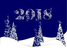 Happy new year, 2018, Merry Christmas  illustration. Royalty Free Stock Photography