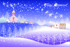 Happy new year merry christmas landscape - Creative illustration eps10 Royalty Free Stock Photography