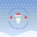 Happy new year and merry christmas pattern vector illustration