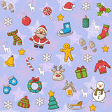 Happy New Year and Merry Christmas pattern stock illustration