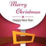 Happy New Year, Merry Christmas, Santa Claus cartoon characters. Vector eps 10 vector illustration