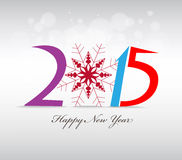 Happy new year and merry christmas with snowflakes. Happy new year background and greeting card design Stock Photography
