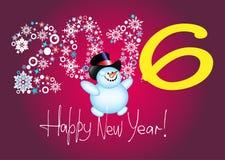 Happy new year 2016 Royalty Free Stock Photos
