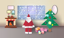 Happy New Year and Merry Christmas,vector illustration stock illustration