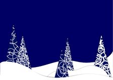 Happy new year, 2018, Merry Christmas vector illustration. Winter snow forest. Paper art style vector illustration