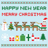 Happy new year and merry christmas  vector Royalty Free Stock Photo