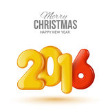 Happy New Year and Merry Christmas. Volume Royalty Free Stock Photos