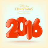 Happy New Year and Merry Christmas. Volume Royalty Free Stock Image