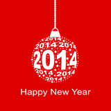 2014 Happy New Year. And merry xmas concept. Vector Illustration Royalty Free Stock Photo