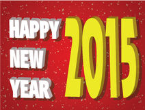 Happy new year and mery christmas 2015. Happy new year 2015 creative greeting card design Royalty Free Stock Images