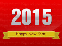 Happy new year and mery christmas 2015 Royalty Free Stock Image