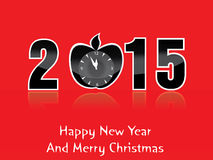 Happy new year and mery christmas 2015. Happy new year 2015 creative greeting card design Royalty Free Stock Photography