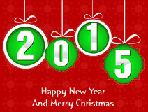 Happy new year and mery christmas 2015 Stock Image