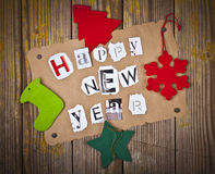 Happy new year message Royalty Free Stock Image