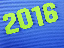 Happy new year message on blue background Stock Photos