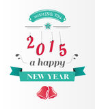 Happy new year message in blue and red Royalty Free Stock Image