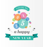Happy new year message in blue Royalty Free Stock Images