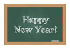 Happy new year. Message on chalkboard Royalty Free Stock Images