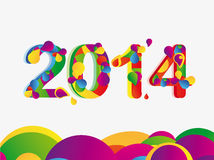 Happy new year 2014. Message - colorful Stock Photos