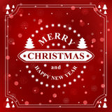 Happy new year message. Merry Christmas holidays wish. Greeting card, invitation, brochure, flyer design  Stock Images