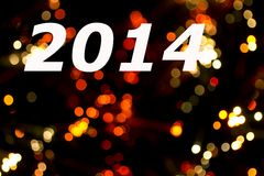 Happy 2014. Happy new year 2014 message over luminous background Royalty Free Stock Images