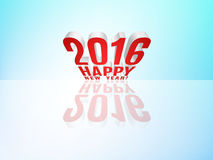 2016 Happy New Year!. 2016 Happy New Year message with reflection. Vector EPS10 Royalty Free Stock Photos