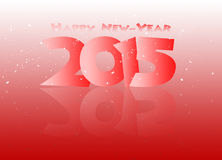 Happy new year 2015  mirrored in black. Royalty Free Stock Image