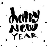 Happy new year. Modern calligraphy and brush lettering. Stock Images