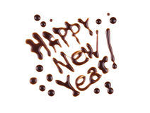 Happy New Year, modern-style inscription Stock Images