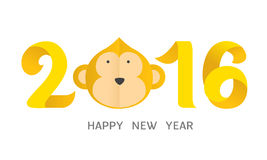 Happy new year 2016. Monkey of the year Royalty Free Stock Photos