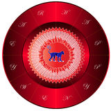 Happy new year in monkey Chinese Zodiac sign on the Sun Royalty Free Stock Images
