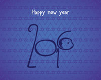 2016 Happy New Year of the monkey. Happy new year 2016 design vector illustration