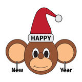 Happy new year monkey. Illustration vector illustration