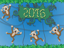 2016 happy new year monkey style Royalty Free Stock Image