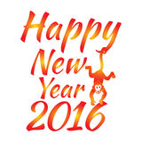 Happy new year 2016. Year Of The Monkey. Vector Illustration Royalty Free Illustration