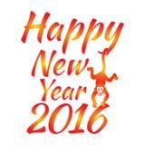 Happy new year 2016. Year Of The Monkey. Vector Illustration Stock Photo