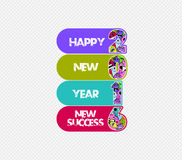 Happy new year 2016 monster doodle. new success.  Stock Photo