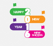 Happy new year 2016 monster doodle. new success.  Royalty Free Stock Photo