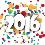 2016 Happy New Year multi color background.vector. Royalty Free Stock Photography