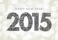 Happy New Year 2015. With Happy new year in multi languages Stock Photography